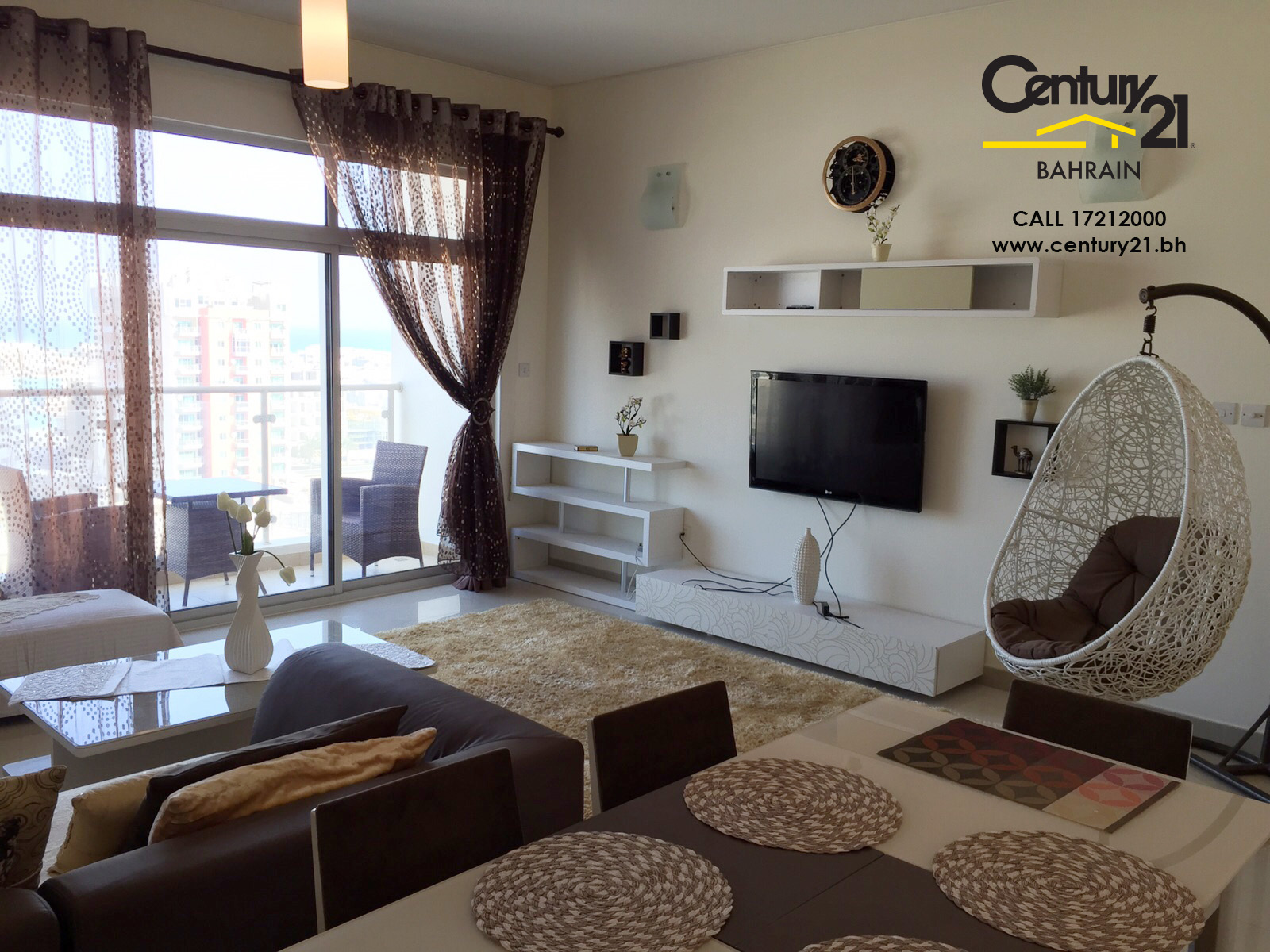AMWAJ:FURNISHED 2 BEDROOM APARTMENT FOR RENT